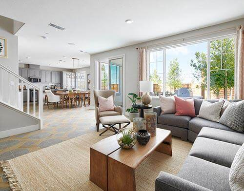 great room at Splash Plan Two at One Lake in Fairfield, California